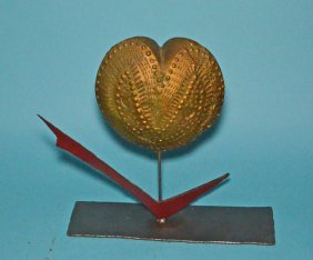 Puffy Heart Table Top Sculpture By Larry Livolsi
