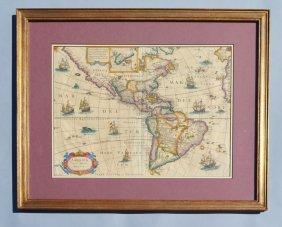 Americae Nova Tabula Willem Janszoon Blaeu Map