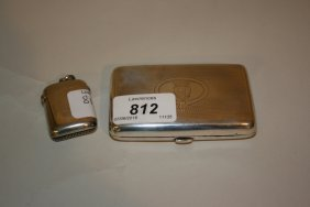 Birmingham Silver Vesta Case Together With A