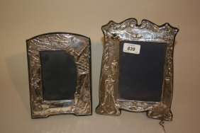 Two Modern Silver Mounted Golf Motif Photograph Frames