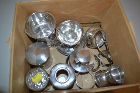 Ten Various Small Silver And Silver Mounted Glass Items