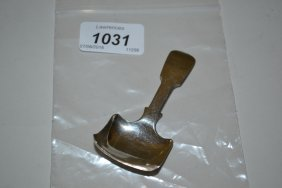 Victorian Silver Caddy Spoon With Square Shovel Pattern