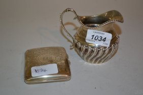 Small Silver Cream Jug Of Half Fluted Design And A