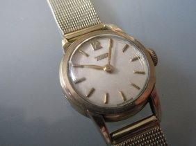 Ladies Gold Plated Tissot Wristwatch With 14ct Gold