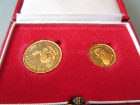 South African One Quarter And One Tenth Krugerrand Set