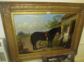 19th Century English School, Oil Painting On Canvas,