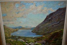 H. Royle, Oil On Board, Loch Charolais Harris, Signed,