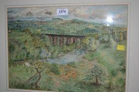 20th Century Watercolour, Tong Park, Baildon With