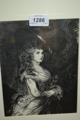 C.g. Thorpe, Engraving Of The Duchess Of Devonshire,