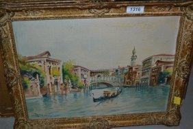Pair Of 20th Century Italian Oil Paintings On Boards,