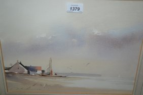 John Lawrence, Pair Of Signed Watercolours, Norfolk