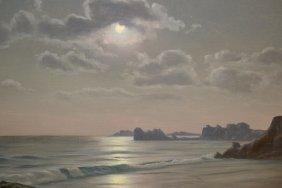 Roger De La Corbiere, Oil On Canvas, Coastal Scene