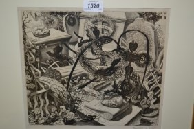 Paul Drury, Signed Etching, An Unusual Study Of