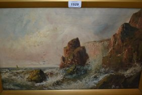 Joel Owen, Early 20th Century Oil On Canvas, Rocky