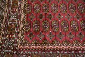 Red Ground Bokhara Style Carpet, 2.3m X 1.6m