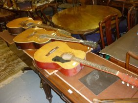 Belcanto Six String Acoustic Guitar Together With A