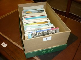 Box With Various Postcards