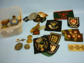 Quantity Of Various Military Badges Etc
