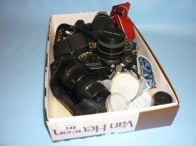 Praktica Bm Camera Body With Lens And Zoom Lens And A