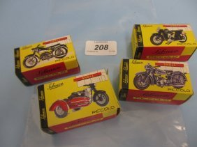 Group Of Four Boxed Schuco Diecast Metal Models Of