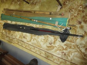 Group Of Three Late 20th Century Fishing Rods And A