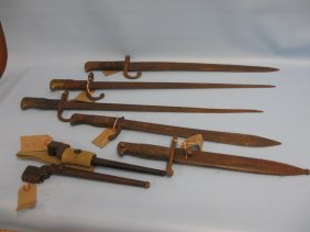 Group Of Five Various Early 20th Century Bayonets, One