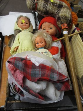 Group Of Three Injection Moulded Children's Dolls,