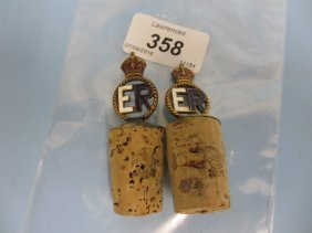 Pair Of Edward Vii Gilt Brass And Enamelled