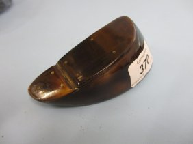 19th Century Horn Snuff Box In The Form Of A Hoof,