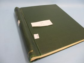 Green Stamp Album Containing A Collection Of Q.e. Ii