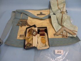 Quantity Of Masonic Regalia Together With Various