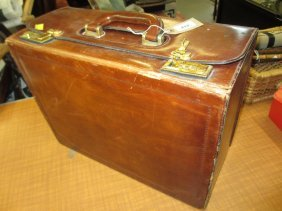 Henry's Of London Brown Leather Document Case