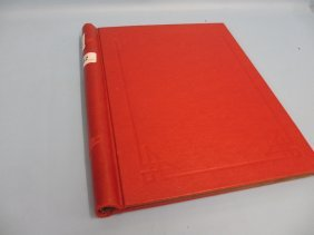 Red Album Containing Collection Of British Stamps 1935