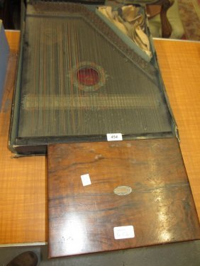German Zither In Original Box And A Victorian Walnut
