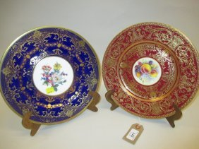 Royal Worcester Cabinet Plate Painted With Fruits,