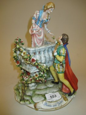Capo Di Monte Group, ' Romeo And Juliet ', Signed