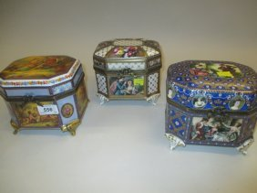 Group Of Three Reproduction Sevres Style Porcelain