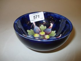 Small Moorcroft Bowl Decorated With The Hibiscus Design