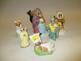 Three Royal Doulton Bunnykins Figures (one A/f), A