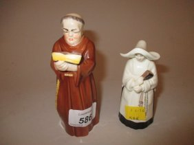 Royal Worcester Candle Snuffer In The Form Of A Monk,