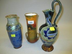 Frank Butler For Doulton Lambeth, Stoneware Jug Vase