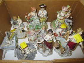 Pair Of Continental Porcelain Groups Of Figures With