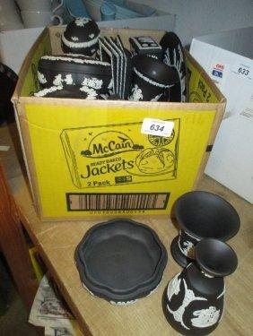 Similar Collection Of Wedgwood Black Jasperware