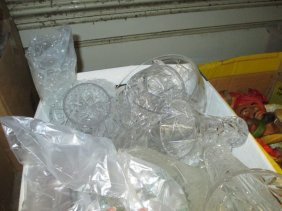 Box Containing A Quantity Of Various Cut Glass