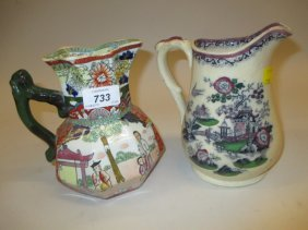 Early Mason's Ironstone Jug Decorated With Oriental