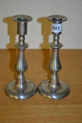 Pair Of Modern Birmingham Pewter Baluster Form
