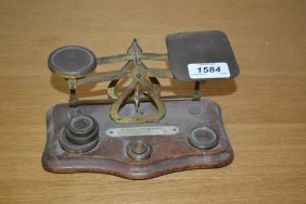 Pair Of Early 20th Century Brass Letter Scales With
