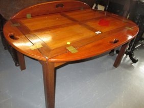 Reproduction Mahogany And Brass Coffee Table In The