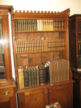 19th Century Pine Gothic Revival Bookcase With A