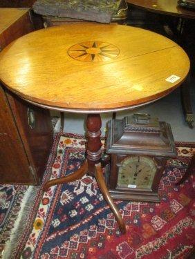 19th Century Oak And Inlaid Circular Pedestal Table